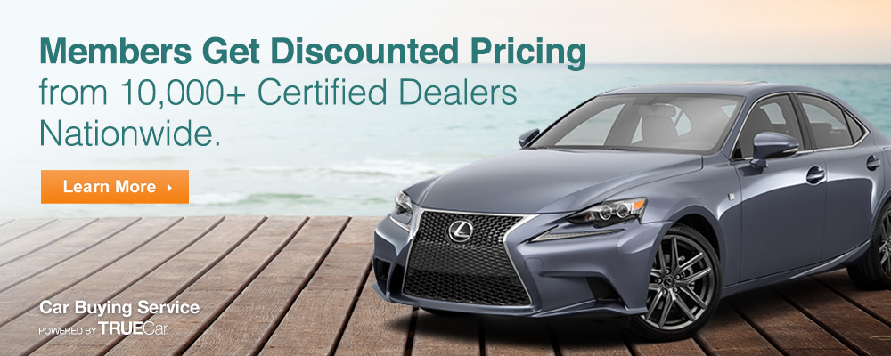 Members get discounted pricing from 10,000+ certified auto dealers nationwide